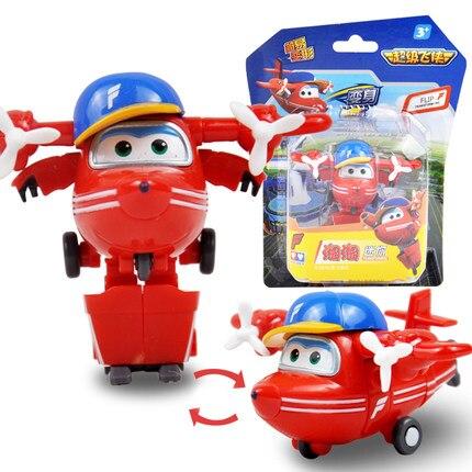12 стилей, мини Супер Крылья, деформация, мини реактивный ABS робот, игрушка, фигурки, Супер крыло, трансформация, игрушки для детей, подарок - Цвет: With box Flip
