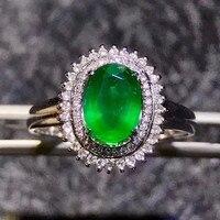 18k Gold Gemstone Diamond Ring 0 9ct Green Emerald Ring Luxury Classic Wedding Annversary Ring