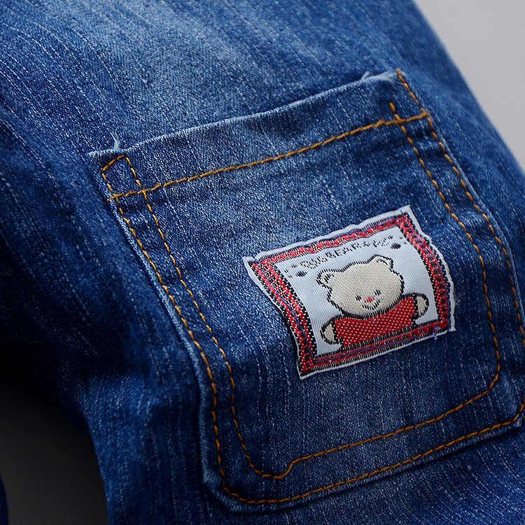 2019 Yaz Bebek Erkek Kız karikatür Tulumları Denim Pantolon Çocuk Unisex Kot Tulum Pantolon Çocuk Giyim Denim tulum