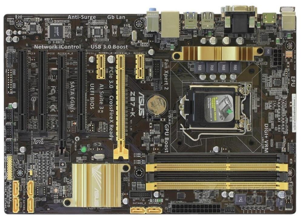 Asus Z87-K Desktop Motherboard Z87 Socket LGA 1150 i7 i5 i3 DDR3 32G SATA3 USB3.0 ATX mainboard for asus maximus vi extreme original new desktop motherboard m6e for intel z87 socket lga 1150 for i7 i5 i3 ddr3 32g usb3 0 atx