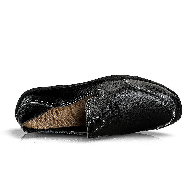 Confortable Noir Occasionnels Et En Conduite Appartements De Bateau marron Slip Blue Des 02a dark Cuir Véritable Masculins Taille Chaussures Souple blanc Grande on Mocassins Hommes tzwqRvv