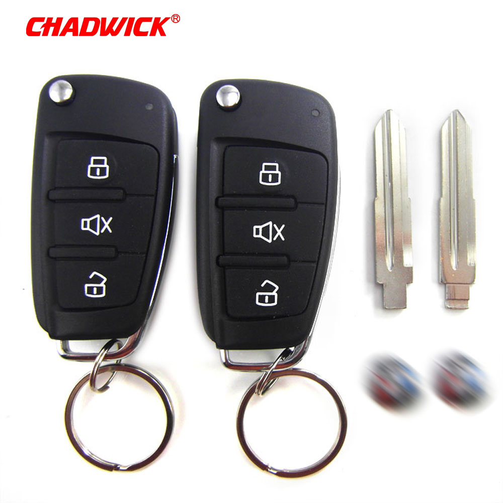 Image 2 - CHADWICK 8118 for Mitsubishi #7 flip key Car Alarm System withSiren one Way Auto Security Keyless Entry  vehicle anti theft-in Burglar Alarm from Automobiles & Motorcycles