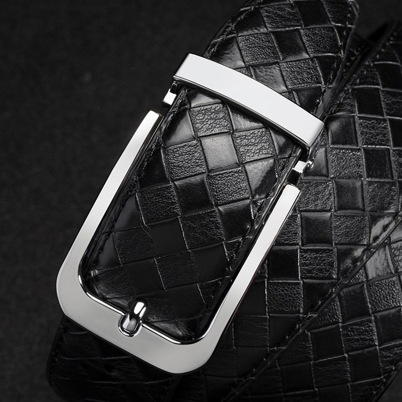 high quality genuine leather Black designer men's   belt   Strap Luxury Brand classice male   Belt   men Alloy Buckle Vintage modis