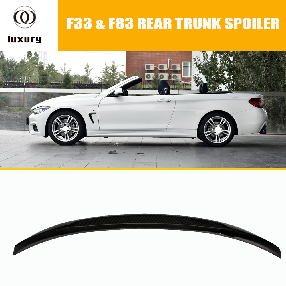 F33 M Performance Style Carbon Fiber Rear Wing Spoiler for BMW F33 Convertible 420i 428i 435i 420d 425d 430d 435d 2014 2015 2016 for bmw 4 series f32 coupe 420i 428i 430i 435i carbon fiber rear spoiler performance style 2014 2015 2016 2017
