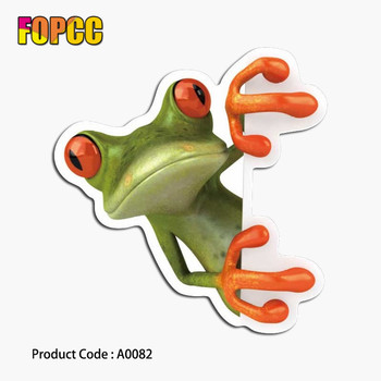 frog sticker animal big eyes animal waterproof suitcase for kids laptop guitar luggage skateboard bicycle stickers image