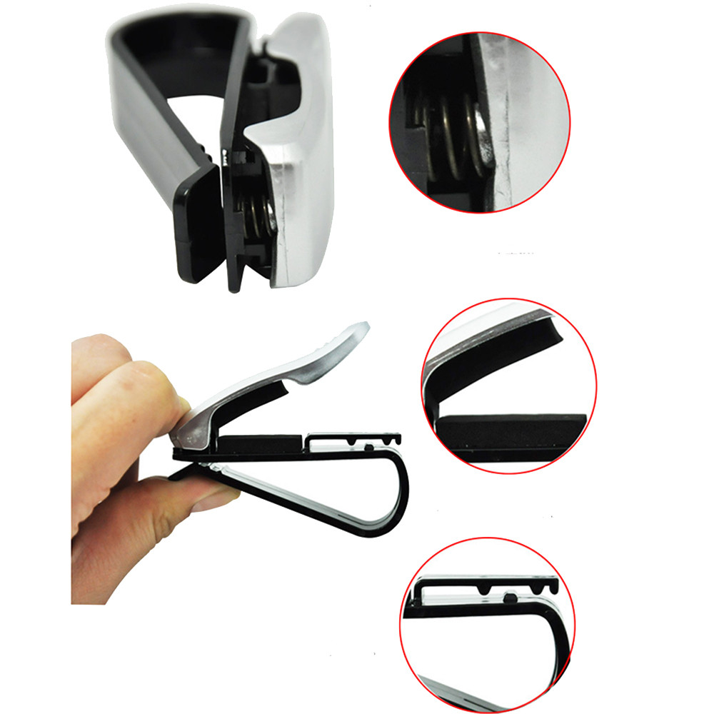 Image 4 - Glasses Holder Car Accessories Sunglasses Holder ABS Auto Fastener Sun Visor Glasses Case Ticket Clip Card Holder Mount-in Glasses Case from Automobiles & Motorcycles
