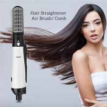 2 in 1 Professional Hair Dryer Brush Straightner Curler Comb Styling Tool Hairdryer Curling Blower Dryer Hair Electric Wave