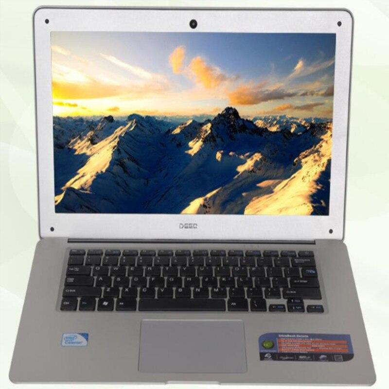 8 GB RAM + 1000 GB HDD + 120 GB SSD Quad Core ordinateurs portables ordinateur portable 14.1 pouces 1920*1080 P écran Bluetooth WIFI Mini HDMI Windows 10