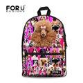 Preppy Style Poodle Pug Dog Rottweiler Printing Backpack Children School Backpacks for Kids Student Girls Animal Bagpack Mochila