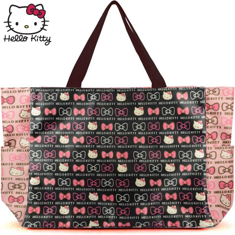 Hello Kitty 2019 mode sac sacs à main maman unique épaule diagonale sac belle filles Shopping Nylon Portable en peluche sac à dos KT - 6