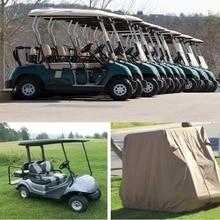 S M L 4 Passengers Car Detector Waterproof Golf Cart Protect Cover UV Resistant For Four Passenger Club Khaki Choose