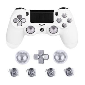 Image 3 - מתכת אוחז אגודל PS4 בקר אלומיניום החלפת ABXY Bullet Thumbsticks כרום d pad עבור Sony פלייסטיישן 4