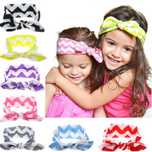 1PC  New Cute Born Baby Girls Cool Cotton Headband Elasticity Node Printing Children Girls Baby Hair Accessories KT053