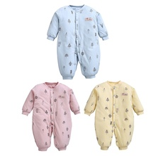 0-2Y Baby Winter Autumn Jumpsuit Bodysuits Infant Thick Cotton Casual Outdoors Outfits New Arrival Clothing