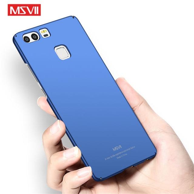 Huawei P9 Lite Trường Hợp Nắp Che Sang Trọng Silm Cứng PC Msvii Thương Hiệu Back Cover Cho Huawei P9 Pro P9Lite Trường Hợp Bảo Vệ Đầy Đủ Điện Thoại Coque
