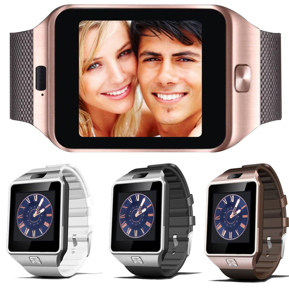 imágenes para Smart watch reloj digital smartwatch dz09 u8 con hombres electrónica bluetooth tarjeta sim para android teléfono con cámara usable dispositivos