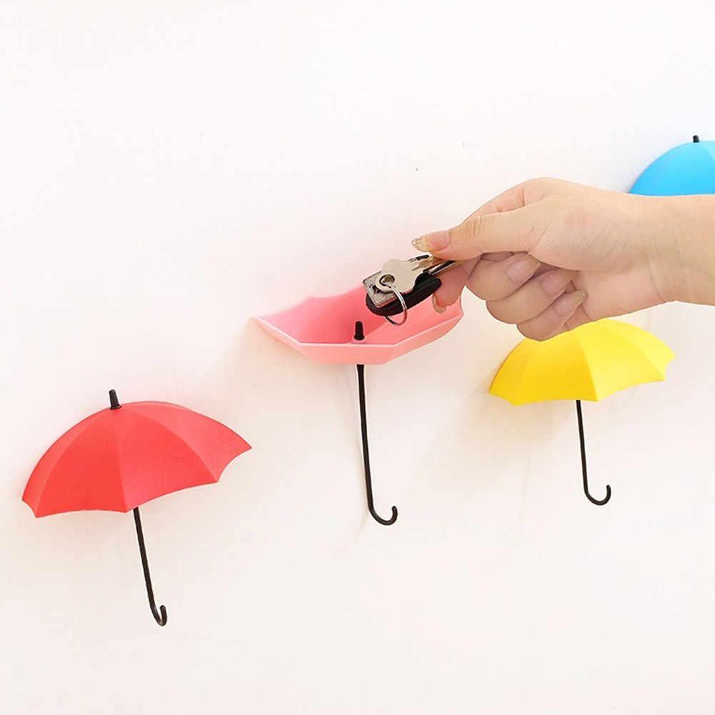 1 Pc カラフルな耐久性のある傘壁フックキーヘアピンホルダーハンガーオーガナイザー装飾かわいい傘形状 Gancho
