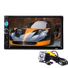 Универсальный 2Din Авторадио 2 din автомобиль видео плеер с сенсорным экраном панели автомобиля аудио-плеер 7010B Поддержка fm/MP5/ USB/AUX/Bluetooth