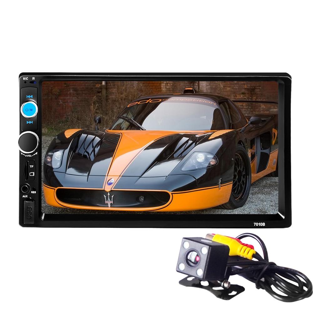 יוניברסל 2D לרכב רדיו 2 דין רכב נגן וידאו מסך מגע לוח רכב נגן אודיו לרכב 7010B תמיכה FM / MP5 / USB / AUX / Bluetooth