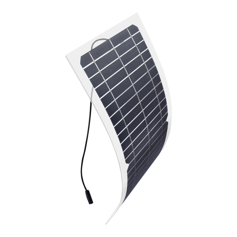 Xinpuguang 12v10w Transparent Semi flexible Silicon Monocrystalline Solar Panel Cell DC Module 12v DIY Battery Phone Adapter kit in Solar Cells from Consumer Electronics