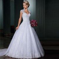 Vestido De Noiva Ball Gown Wedding Dresses Open Back Sexy Vestido De Casamento Detachable Train Bridal