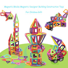 1PC Mini Magnetic Building Blocks Designer Building Construction Toys DIY Plastic Magnet Educational Toys For Children Kids Gift(China)