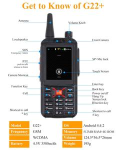 Image 4 - Anysecu WCDMA GSM 3G Wi Fi радио G22 + Android система FM trancever 3G 22PLUS F22 сетевая радио работает с Real ptt/Zello