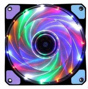 120 مللي متر جهاز كمبيوتر شخصي 15 المصابيح 12 V حالة مروحة غرفة تبريد مسند تبريد للاب توب مدمج به مكبر صوت مع مكافحة الاهتزاز المطاط ، 12 سنتيمتر مروحة