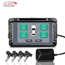 Car TPMS for Android USB Tire Pressure Monitoring System Navigation Display Wireless Auto Tyre Pressure Security Alarm