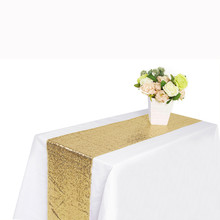 30X300cm Sequin Satin Table Runner Glitter Tablecloth Bar Wedding Party Banquet Venue DIY Decoration Accessories Textiles