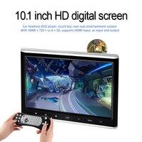 WOWAUTO 10.1 Inch Headrest DVD Player Portable DVD Screen Headrest Monitor For Car Digital Touch Button HDMI USB SD Port