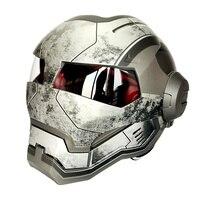 1pc High Quality 100 Original Matte War Gray Masei 610 Ironman Helmets Motorcycle Skull Open