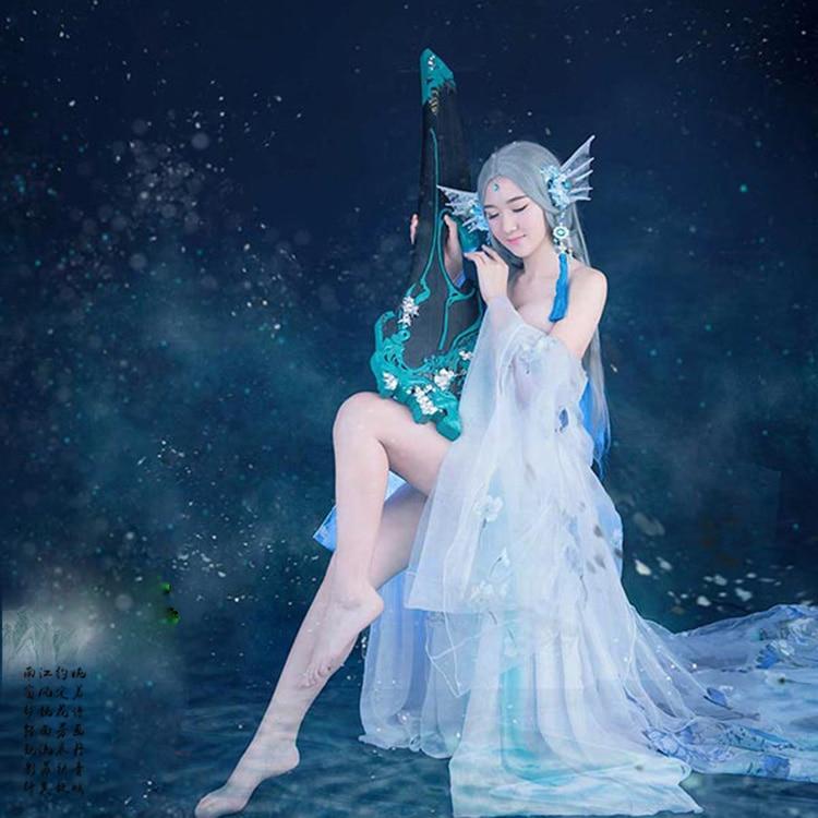 Jiao Ren Han Tang Dynasty Fairy Aesthetic Stage Performance Costume Hanfu Thematic Photography Hanfu