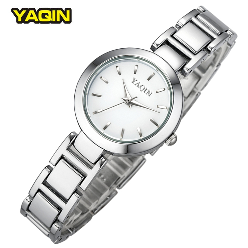 Brand YaQin Women Watch Female Fashion Simple Watches Classical Clock Bracelet Quartz-Watch Black White Dial Relogios Femininos цена и фото
