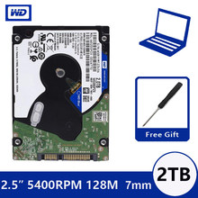 "WD Blue 2 TB 2.5 ""SATA III Internal Hard Disk Drive 2000 GB HDD HD Harddisk 6 Gb/s 128 M 7 Mm 5400 Rpm untuk Notebook Laptop(China)"