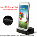 Micro USB Desktop Charging Dock Stand Charger For HTC One M9 M8 M7 One Mini 2 M8 mini +  Micro Usb Charger Cable
