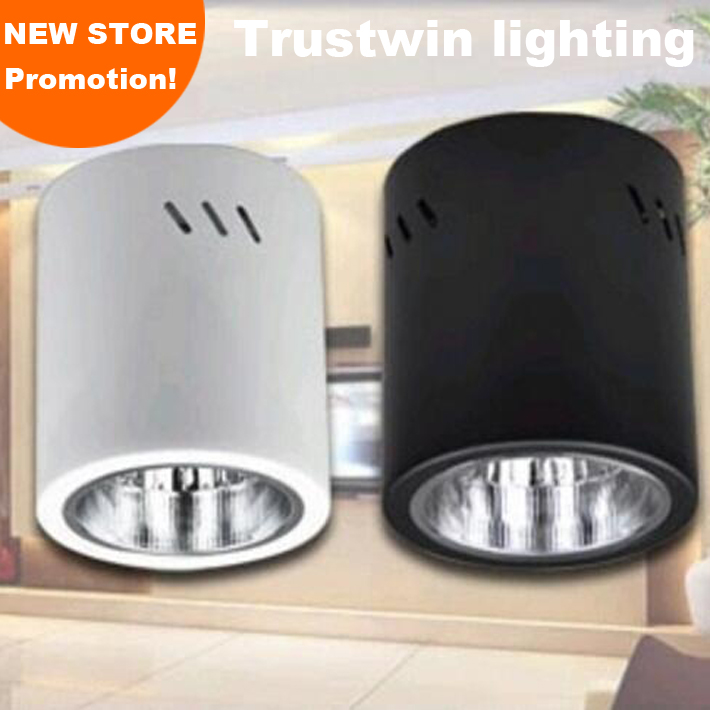 4 pieces spot bulb fixture Halogen round holder white black E27 lamp holder hanging flush surface