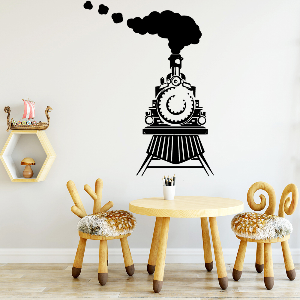 Hot Sale train Home Decorations Pvc Decal Waterproof Wall Decals Home Decoration Accessories in Wall Stickers from Home Garden