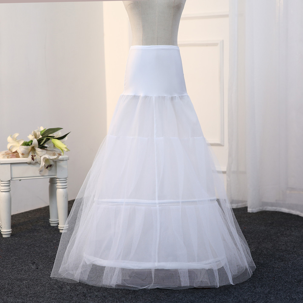 Free Shipping Real Photo A line Underskirt Wedding Bridal Gown Dress ...