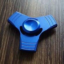 อลูมิเนียมสีฟ้ามือปั่นTriอยู่ไม่สุขนิ้วปลายนิ้วGyroโต๊ะของเล่นEDCผู้ใหญ่