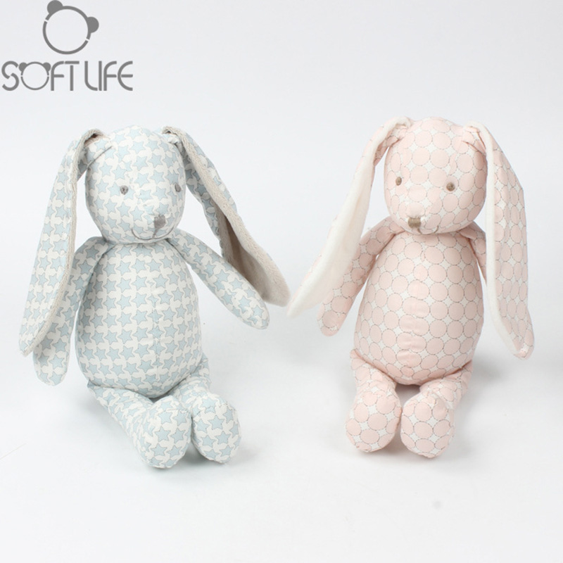 Other Nursery Bedding Baby Beautiful Dream & Play Baby Bunny White & Pink Teething Ring Lovey Crinkled Ear Nunu