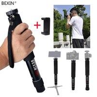 BEXIN Portable Lightweight flexible pocket mini dslr camera unipod monopod Pole for gopro SLR Micro Single Camera Photography