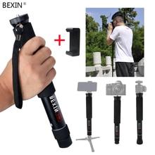 BEXIN portatile leggero flessibile tasca mini dslr fotocamera unipiede monopiede palo per gopro SLR Micro fotocamera singola fotografia