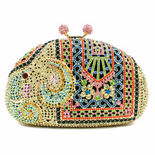 Woman evening bag 2016 brand fashion new Cartoon elephant luxury diamond dinner bag features high-grade handmade day clutch