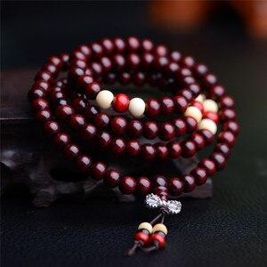 Image 5 - 108 Beads 8mm Natural Sandalwood Buddhist Buddha Wood Prayer Bead Male Unisex Men Bracelets & Bangles Jewelry Bijoux