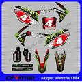 CRF250R 450R CRF250  CRF450 2013 2014 2015 2016 3M GRAPHICS  BACKGROUND GREEN DECALS STICKERS KITS NUMBER FOUR DIRT BIKE
