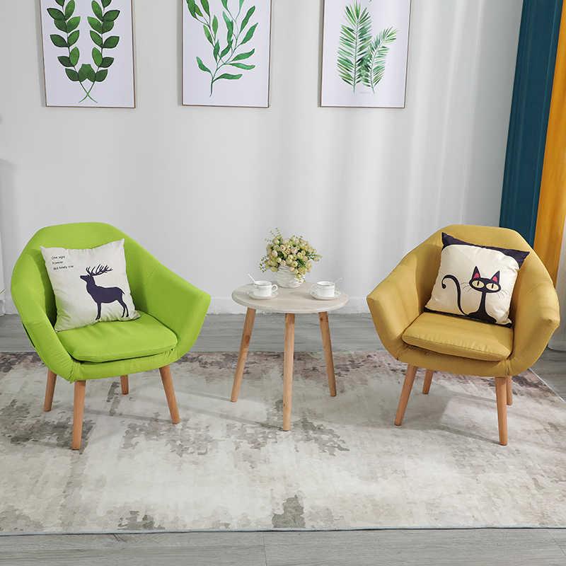 Nordic Lazy Sofa Single Small Apartment Fabric Living Room Bedroom