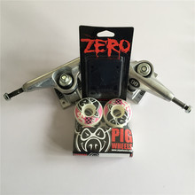 Skateboard Parts Mixed UNION 5 25 Skate Trucks PIG 50mm Skate Board Wheels Plus Zero Riser