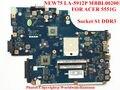 Madre Original del ordenador portátil para ACER Aspire 5551G NEW75 LA-5912P MBBL002001 Socket S1 DDR3 Totalmente probado