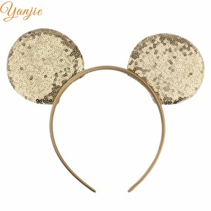 Image 4 - 14pcs/lot 2020 Fashion Sequins Mouse Ears Headband Glittle DIY Girls Hair Accessories For Women Hairband Party Accesorios Mujer